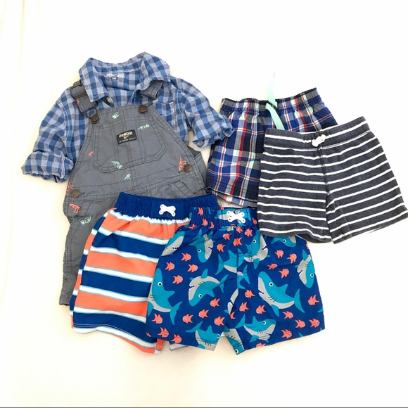 b059be7fda OshKosh B'gosh Bottoms | Baby Boy 12 Month Short Overall Summer ...
